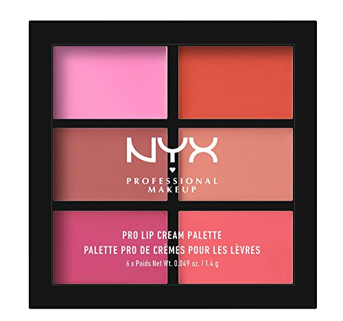 NYX PROFESSIONAL MAKEUP Pro Lip Cream Palette, The Pinks, 0.317 Ounce (Palette Lip Lipstick)