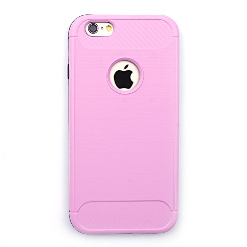 iProtect TPU Schutzhülle Apple iPhone 6 Plus, 6s Plus Carbon Case brushed rosa