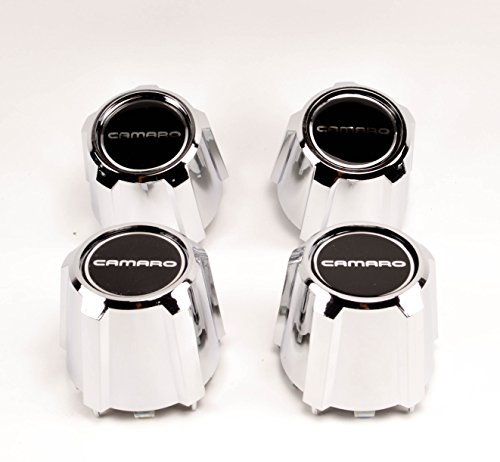 (GM Restoration Set of 4 New 15 inch 5 Star Aluminum Wheel Chrome Center Caps Replacements for 1982-1992 Chevrolet Camaro Z28 RS)