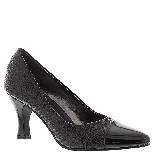 Bellini Leather Pumps (Bellini Women's Zing Fashion Pumps, Black Faux Leather, Polyurethane, 7.5)