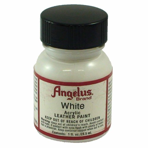 Angelus Acrylic Leather Paint, White, 1 oz. (Best Shoe Repair Los Angeles)