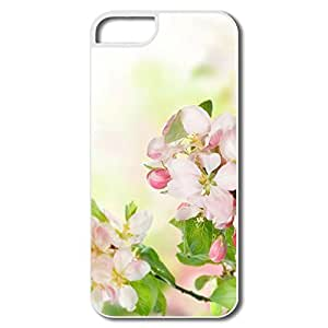 IPhone 5/5S Cover, Apple Blossom White Cases For IPhone 5 5S