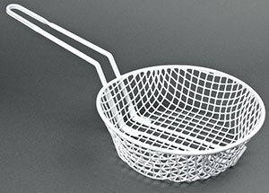 Thunder Group 3-Inch Deep Breading Basket with 10-Inch Round Coarse Mesh (Mesh Breading Basket)
