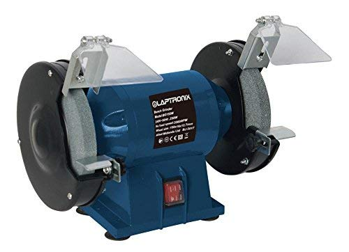 Laptronix 250w Bench Grinder 6' 150mm Twin Grinding Stone for Home or...