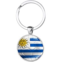 Wingbind Keychain Key Rings with A National Flags Pattern Pendant Into Charm FIFA Russia World Cup Football Fans Gift Ideas Handmade