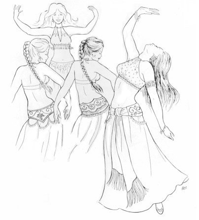 Belly Dance Costumes Sewing Patterns (Inalam's Halter Bras and Tie Girdle Pattern (Belly Dance))