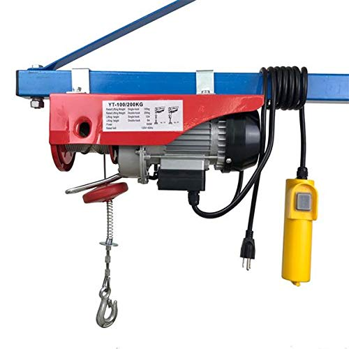 Genetic Los Angeles 220lb/440lb Mini Electric Wire Hoist Remote Control Garage Auto Shop Overhead Lift