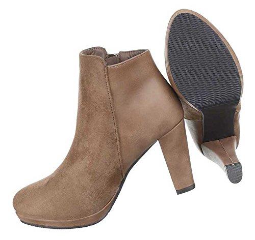 Damen Schuhe Stiefeletten Leicht Gefütterte Weinrot 38 SqBx4ofeCG