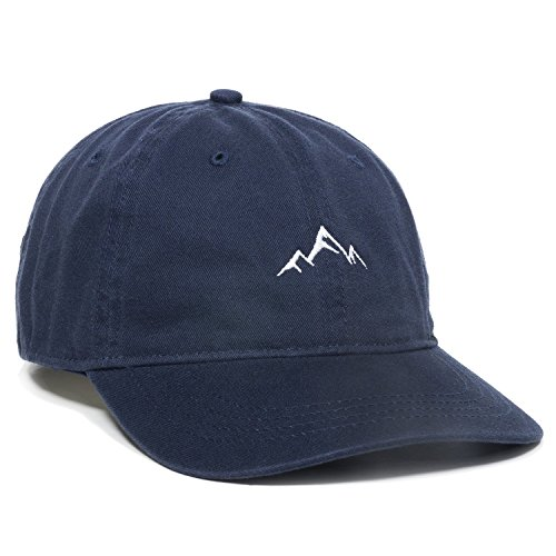 Outdoor Cap -Adult Mountain Dad Hat-Unstructured Soft Cotton Cap, Navy, One Size