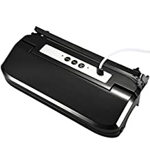 Vacuum Sealer, [Update Version] Pictek 3-in-1 Fully Automatic Food Vacuum Saver, Easy One-Touch Vacuum Sealing System Machine with vacuum tube and Cutter, Black