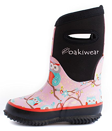 UPC 603453930353, Neoprene Rain Boots, Perched Owls 13