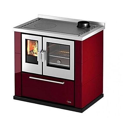 Cadel Cucina A Legna.Cucina A Legna 6 5 Kw Kook 87 Cadel Rossa Amazon It Fai Da Te