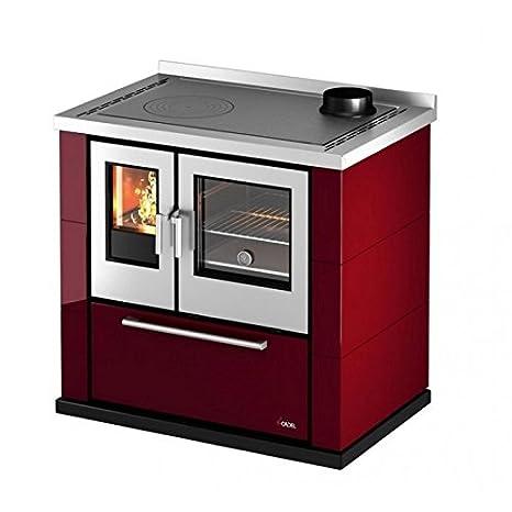 Cocina a leña 6,5 kW Kook 87 Cadel roja: Amazon.es: Bricolaje y herramientas
