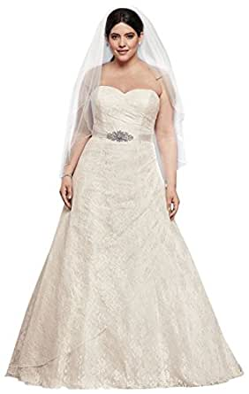 amazon dresses for weddings allover lace plus size a line wedding dress style 9wg3805 1282