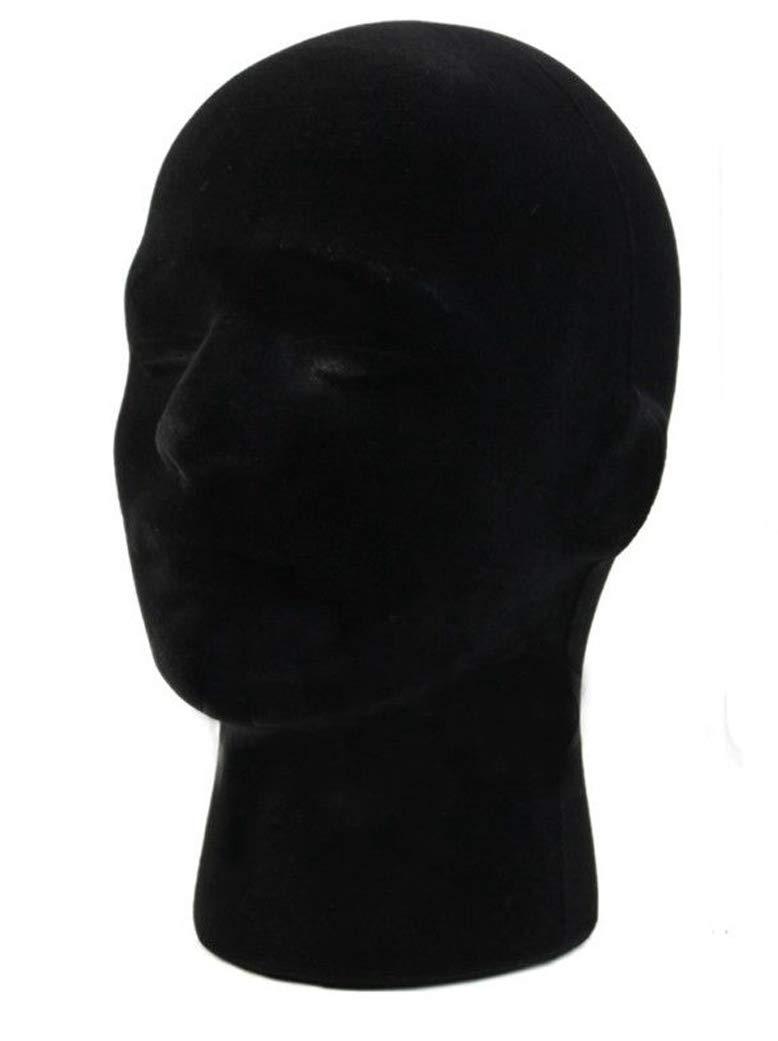 1 Pcs Female Styrofoam Mannequin Manikin Head Model Foam Wigs Hats Hairpieces Style Model Display (Black) by do.Cross (Image #1)