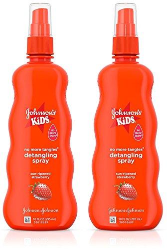 (Johnson's Kids No More Tangles Detangling Spray, Strawberry 10 fl oz (295 ml)(PACK OF 2))