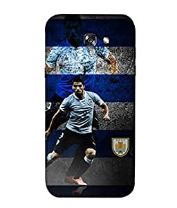 ColorKing Football Suarez Uruguay 09 Multicolor shell case cover for Samsung A3 2017