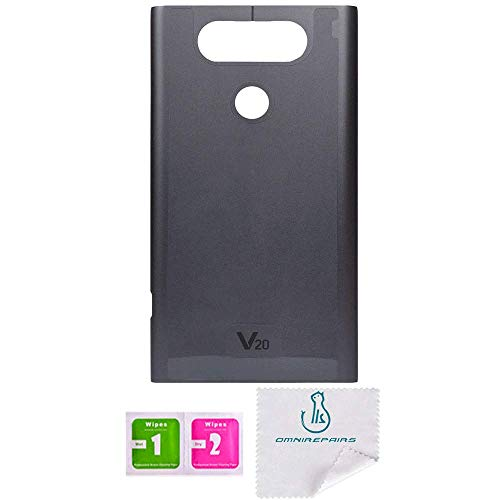 OmniRepairs Rear Back Battery Door Cover Replacement Compatible for LG V20  Titan Gray Model (H910, H915, H990, LS997, US996, VS995, F800L)