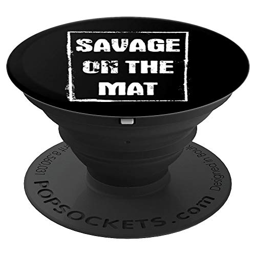(Savage on the Mat Brazilian BJJ Jiu Jitsu Design - PopSockets Grip and Stand for Phones and Tablets)