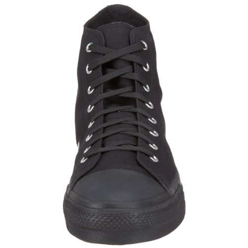 Demonia Door Pleaser Mens Deviant-101 Veterschoen Zwart Canvas