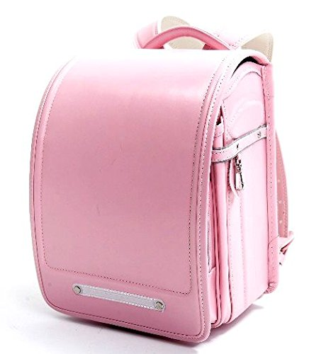 Ransel Randoseru satchel bag A4 Clear file fits Japanese school bag Japan Imported (Pink) (Imported Pink)