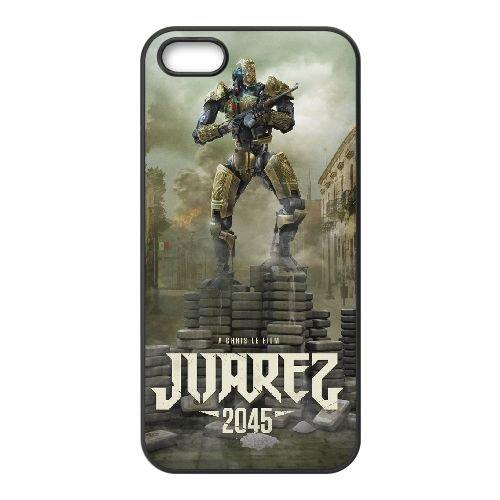 Juarez 2045 coque iPhone 5 5S cellulaire cas coque de téléphone cas téléphone cellulaire noir couvercle EOKXLLNCD24952