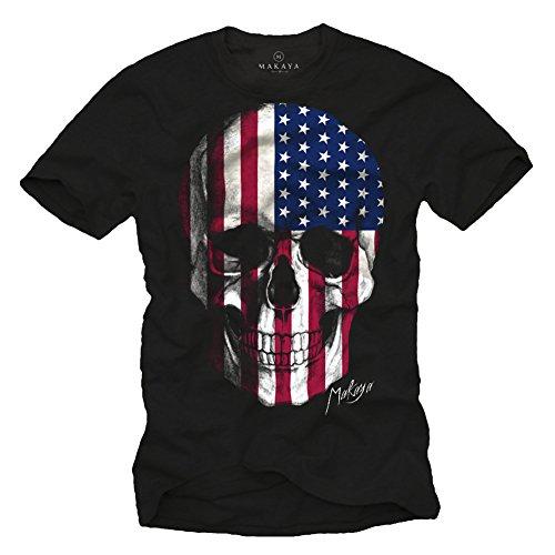 Bandiera Uomo shirt Nera T Maglietta Americana Nero IwA80vWxq