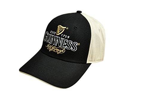 Baseball Guinness (Guinness Arthur Signature Baseball Cap - Cotton Black and Cream Hat)