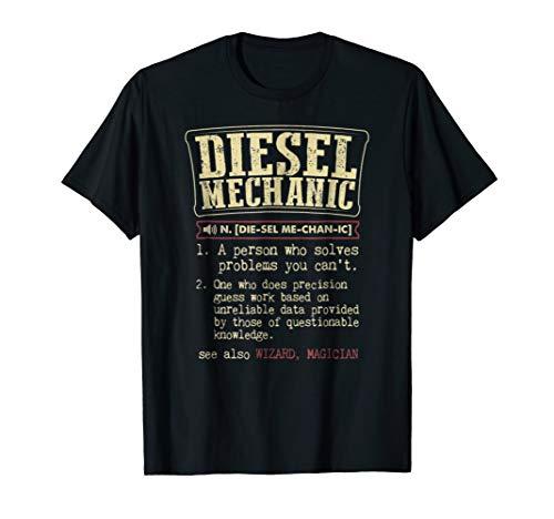 Funny Diesel Mechanic meaning t shirts vintage design