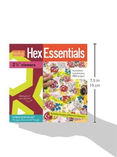 "fast2cut® HexEssentials 2 1/2"" Viewers: 3-Piece Acrylic Hexagon, Diamond & Triangle Set"