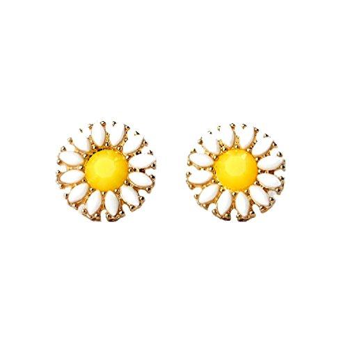 Yellow Daisy Earrings - 7