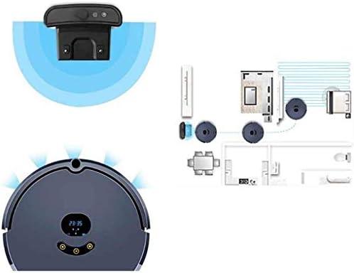DHTOMC Balayer Robot Accueil Smart Belt Mobile APP Carte de Navigation Automatique de Balayage Automatique Charging, Convient for Tous Aspirateurs à Poser au Sol Xping