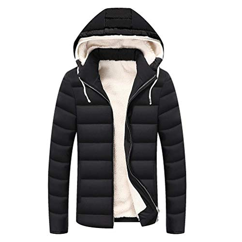 Schwarz Outwear Apparel Lightweight Slim Men's Warm Sleeve Quilted Quilted Quilted Fit Coat Coat Winter Lining Jacket Hooded Jacket Long Ugqx18wZx