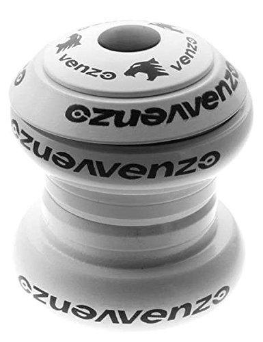 Venzo 1-1/8'' Threadless Mountain Bike Headset Sealed White