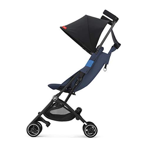 41PkCVrybIL - Gb Pockit+ All-Terrain, Ultra Compact Lightweight Travel Stroller With Canopy And Reclining Seat In Night Blue