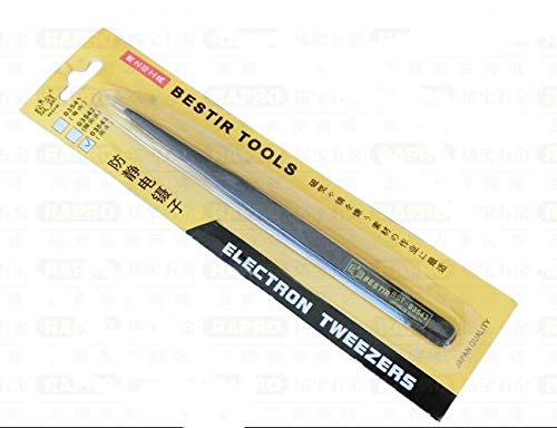 Black Industrial Tweezers | Anti-Static, Anti-Magnetic | High Precision | 125Mm 5&Quot by BATOP (Image #5)