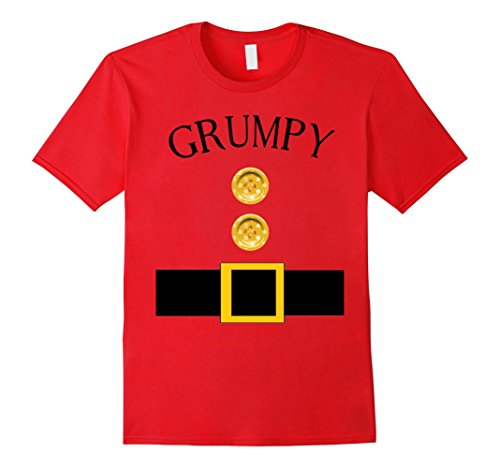 Mens Cute Grumpy Halloween Group Costume T Shirt | Team Tees Large (Cute Mother And Son Halloween Costumes)