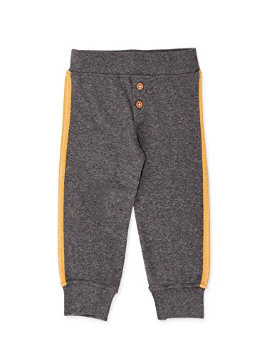 Colored Organics Baby Boys Evan Jersey Organic Jogger Pants - (Marigold Pattern)