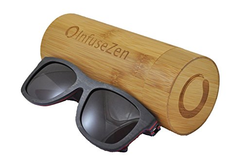 Infusezen Skateboard Wooden Sunglasses Wood Sun Glasses With Polarized Lenses