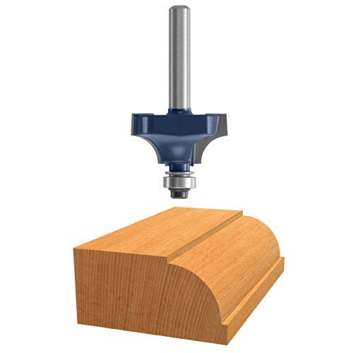 Bosch 85493M 7/8-Inch Diameter 31/64-Inch Cut Carbide Tipped Beading Router Bit 1/4-Inch Shank With Ball Bearing
