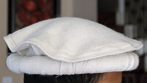 Chitrali Cap Afghan Hat Handmade 100/% Sheep Wool Fine Quality Brown