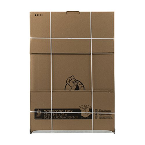 Duck Brand 284853 Corrugate Wardrobe Box, 24 L x 24 W x 34 H Inches