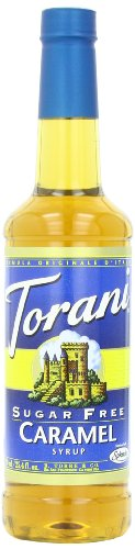 Torani Sugar Free Syrup, Caramel, 25.4 Ounce (Pack of 4) ()