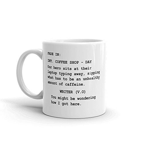 Funny Gift for Screenwriters, Mug for script writers, Hollywood screenplay Mug