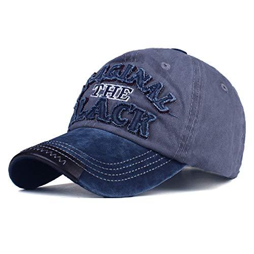 野球帽 男性女性 カジュアルカセットのキャップの文字 刺繍 黒いキャップ,紺色,