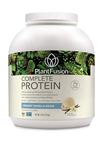 PlantFusion Complete Plant-Based Protein Powder, Gluten Free, Vegan, Non-GMO, Packing May Vary, Vanilla, 5 Pound