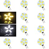 GuiXinWeiHeng 10 pcs ding yao G4 5W 15X SMD 5730 500-800LM 2700-3500/6000-6500K Warm White/Cool White Bi-pin Lights AC 12V , warm white