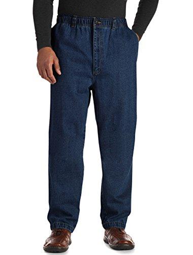Harbor Bay Big And Tall (Harbor Bay DXL Big and Tall Full Elastic Waist Jeans, Dark Stonewash 2XL 32)