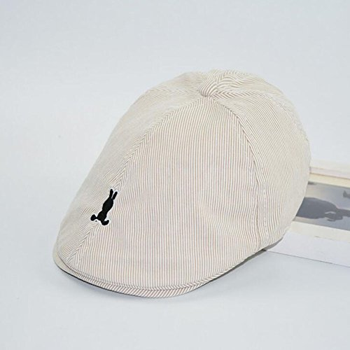Newborn Boy Girl Summer Swim Hats Baby Children Stripes Berets Embroidered Rabbit Summer Sun Hats Little Rabbit Toddler Cap 2-6 Year