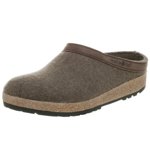 Wool Womens Clogs (Haflinger GZL Clog,Smokey Brown,39 EU/Women's 8 M US/Men's 6 M)